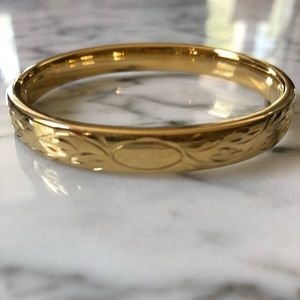 🔥 Vintage Napier Gold Tone Bangle